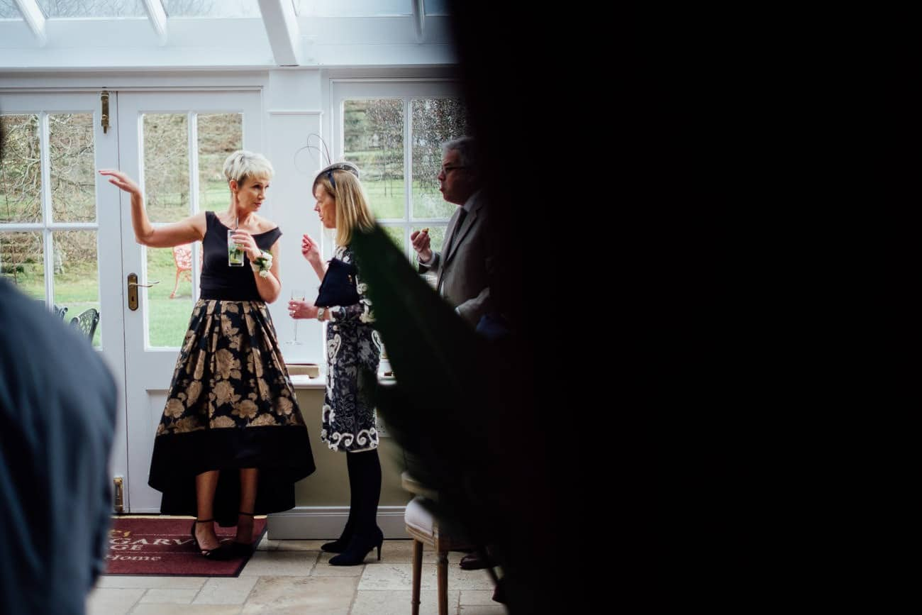 a reception at a ballymagarvey village wedding
