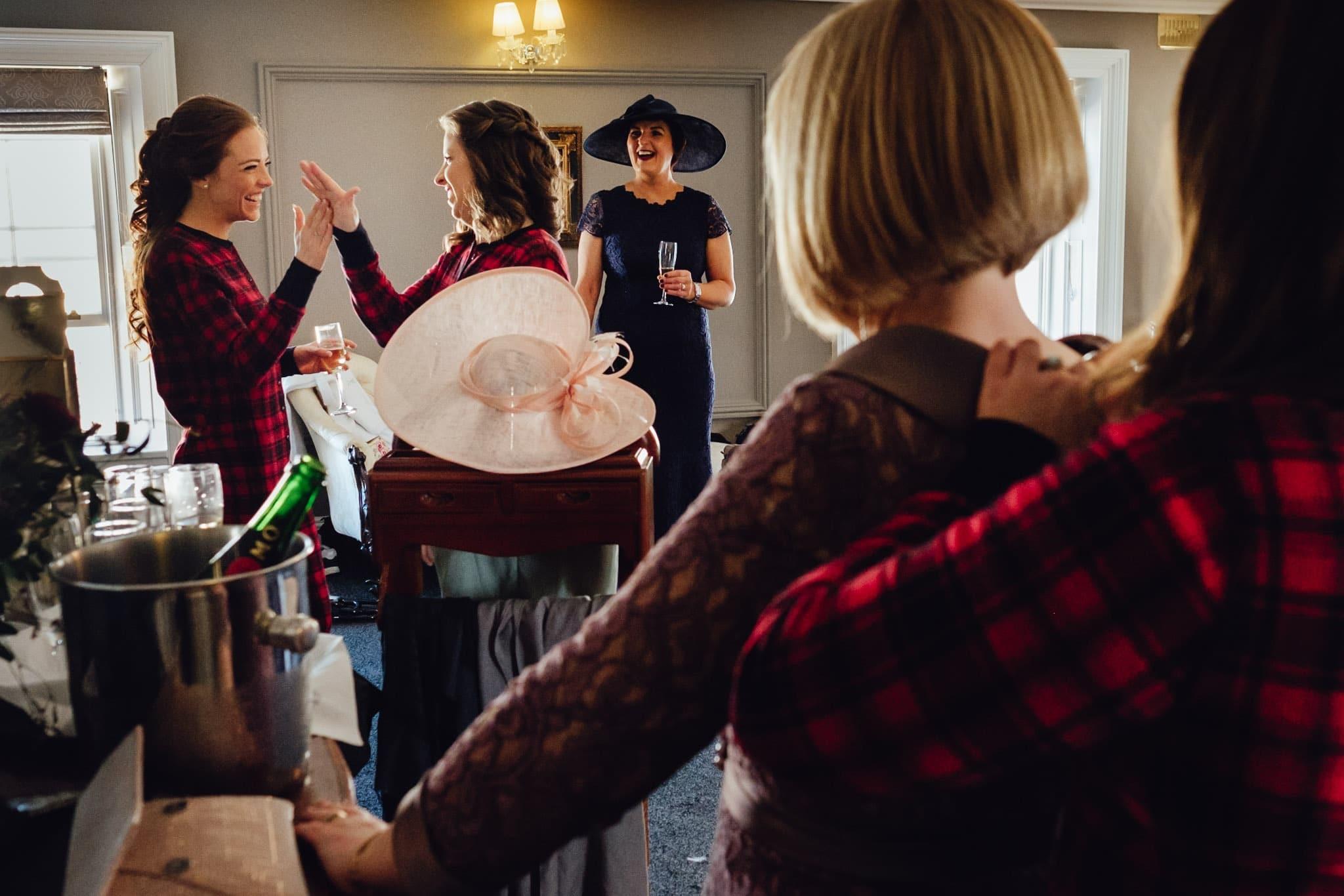 bridal preparation at a clonabreany house wedding
