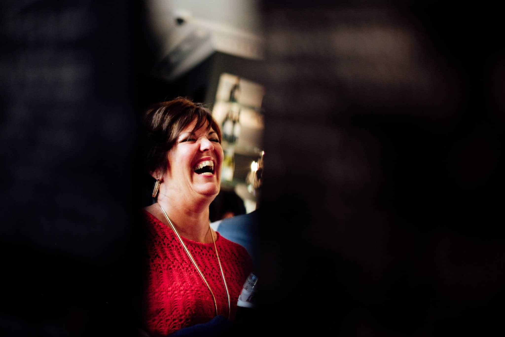 guest laughing at clonabreany house