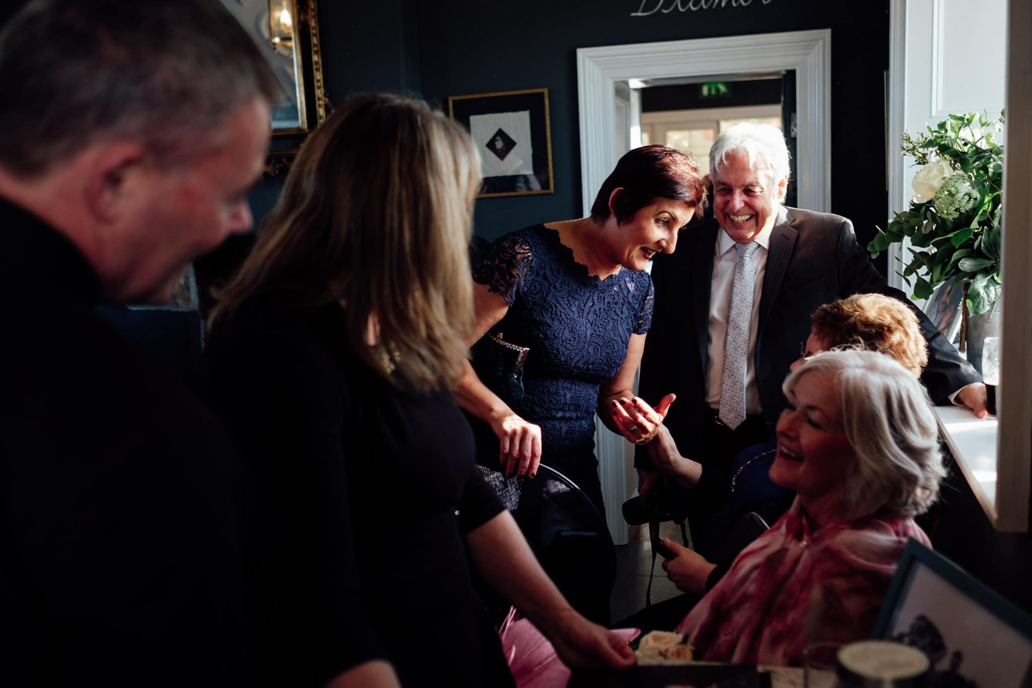 guests enjoying the reception at clonabreany house