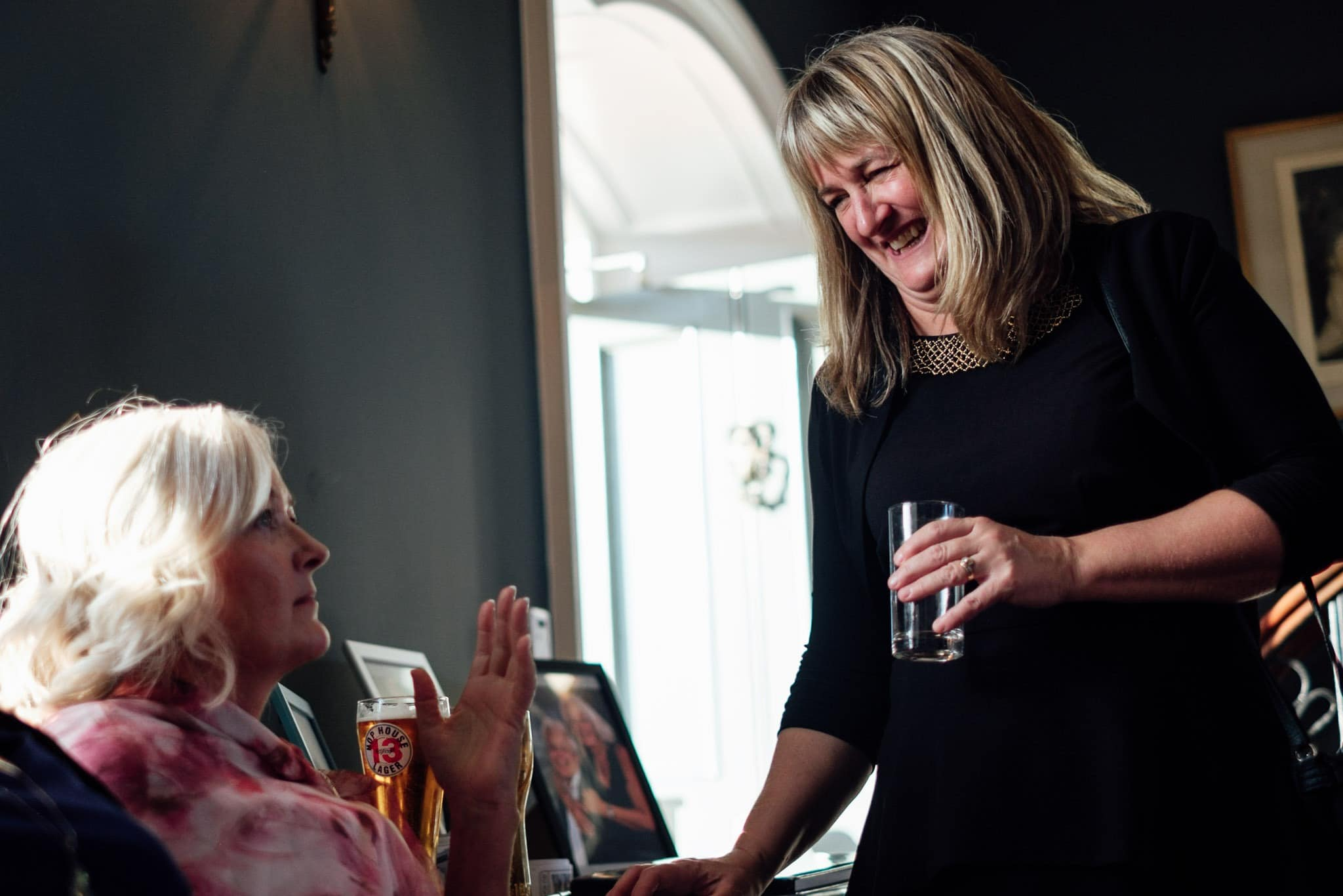 guests enjoying reception at clonabreany house