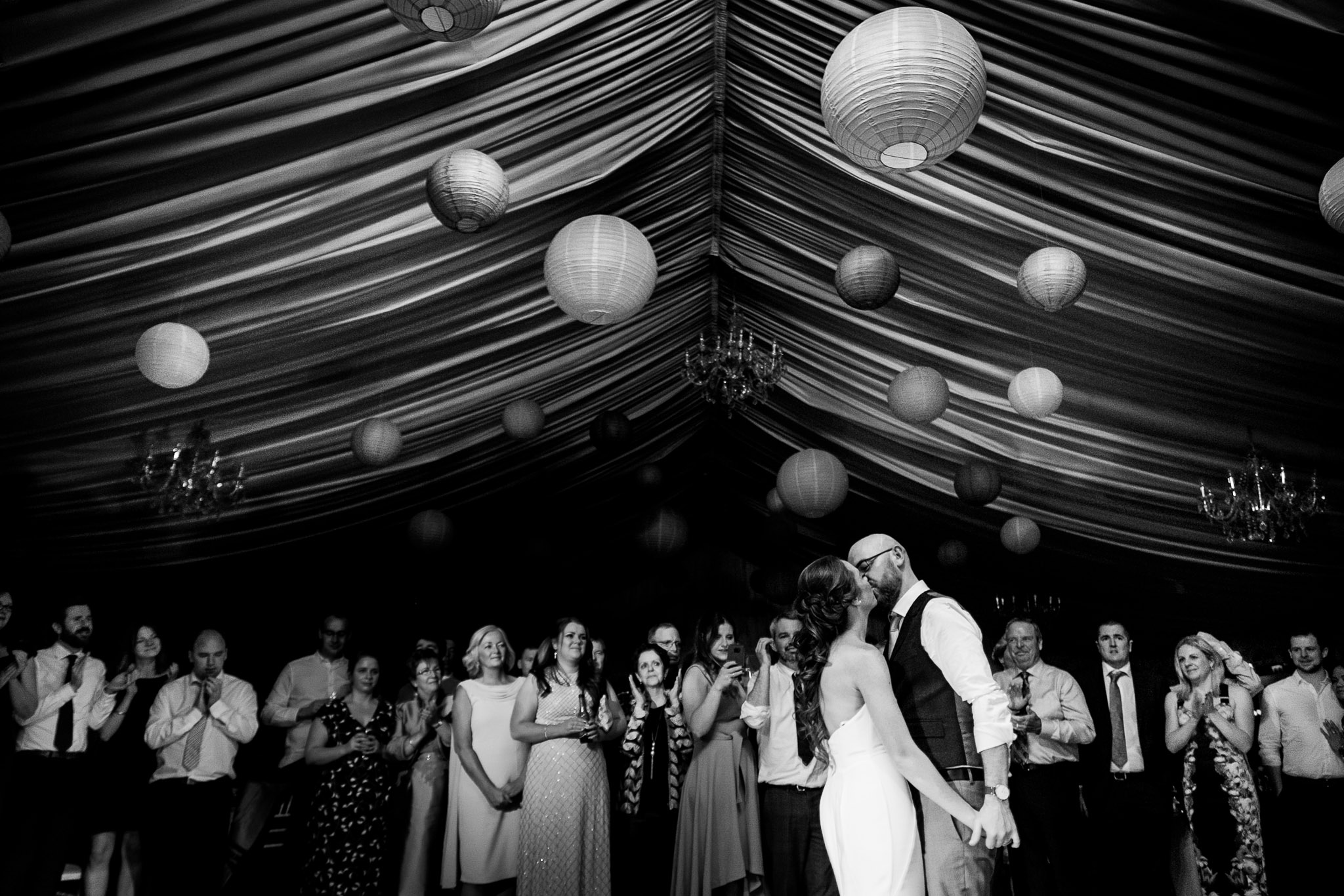 bride and groom have their first dance at a clonabreany house wedding
