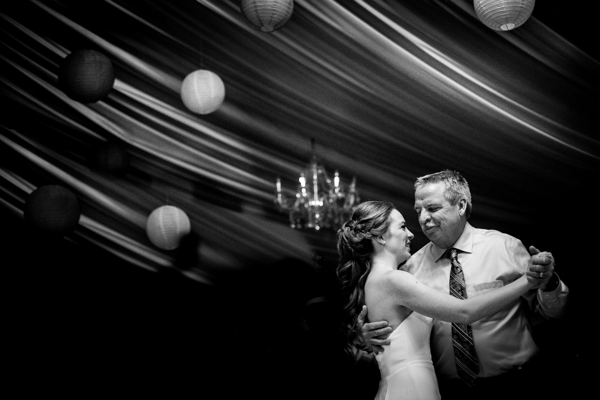 Bride dances with her dad
